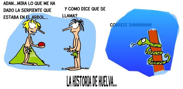 ADAN Y EVA-petarda historia de Huelva