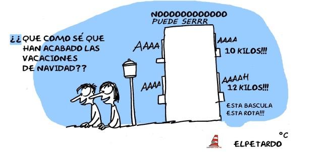 fin de las vacaciones de #navidad .#Huelva #humor