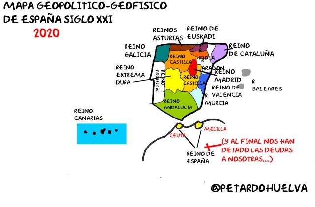 mapa de #España para el 2020