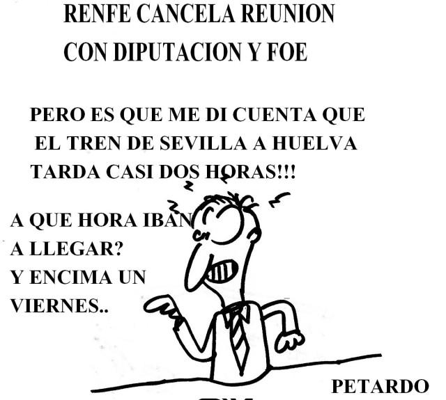 #Renfe cancela reunion con @DipuHU y con la foe de #Huelva